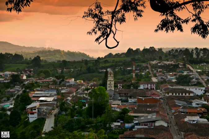 Scenic view of Salento, Colombia