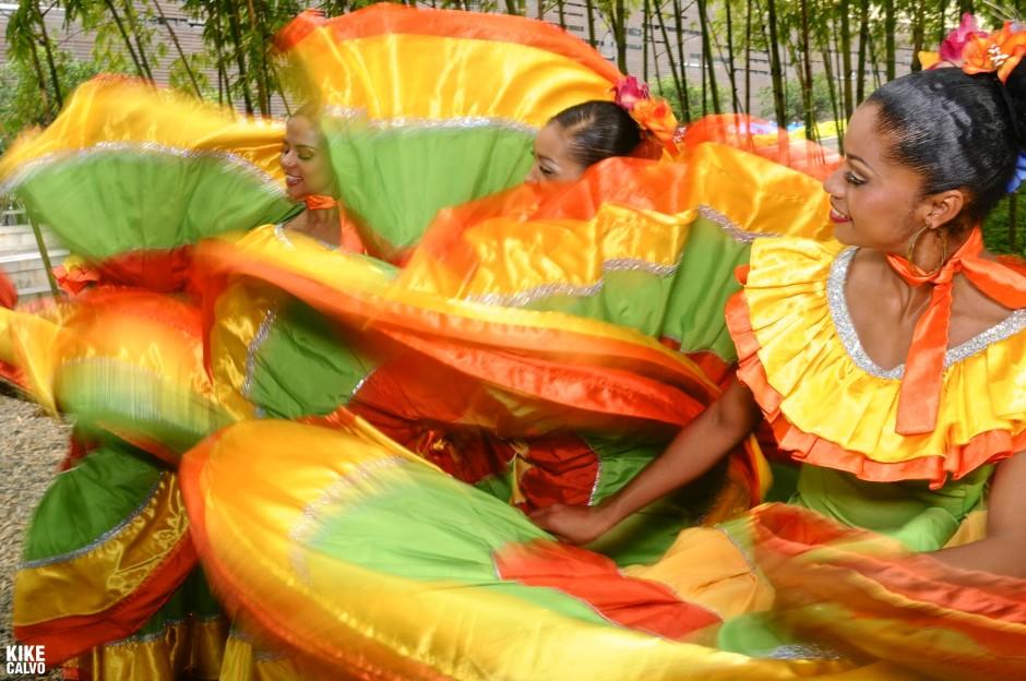 Colombian folk dancer
