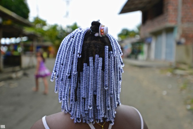 Girl with Afro-Colombian hairstyle, Colombian Pacific Coast
